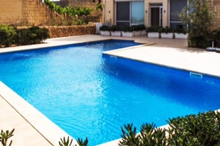 Pool and sunbathing deck