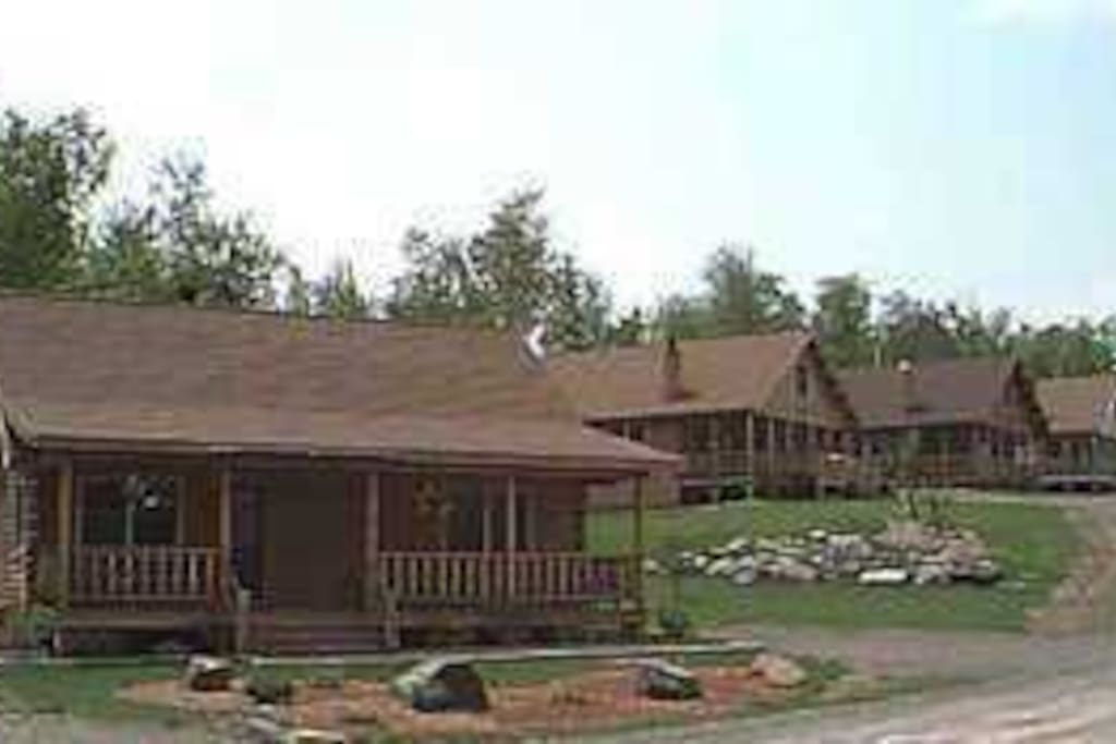 Log Cabin with farmers porch