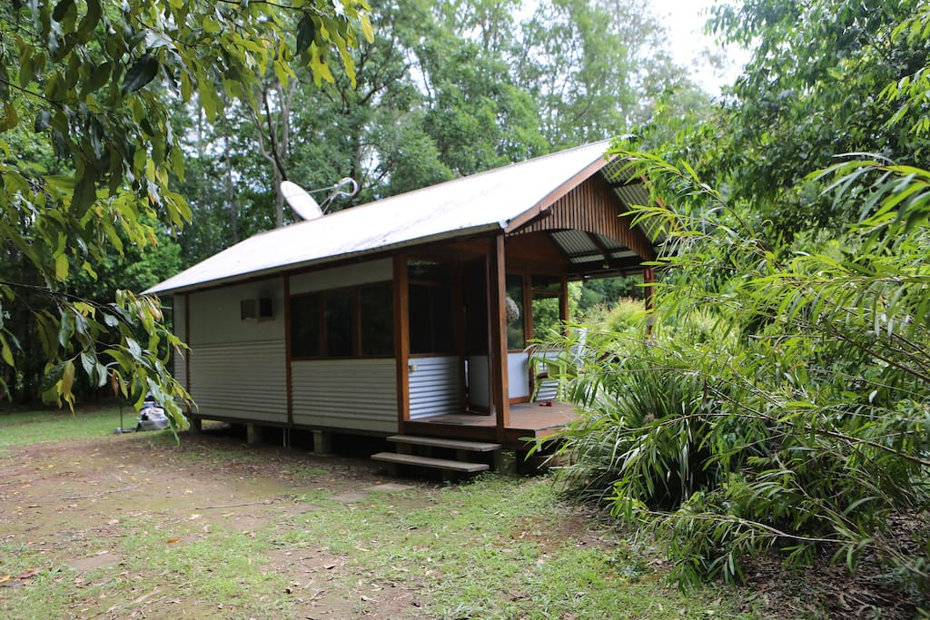 Our hut is located near the entrance to our home, separated by a rainforest
