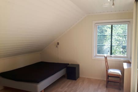 Cozy countryside loft double room 1 - Ås - Huis