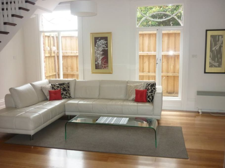 Living area provides ample space and comfort to relax and also entertain.