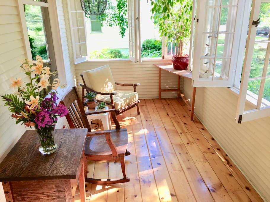 Front porch is perfect for morning coffee or sunset