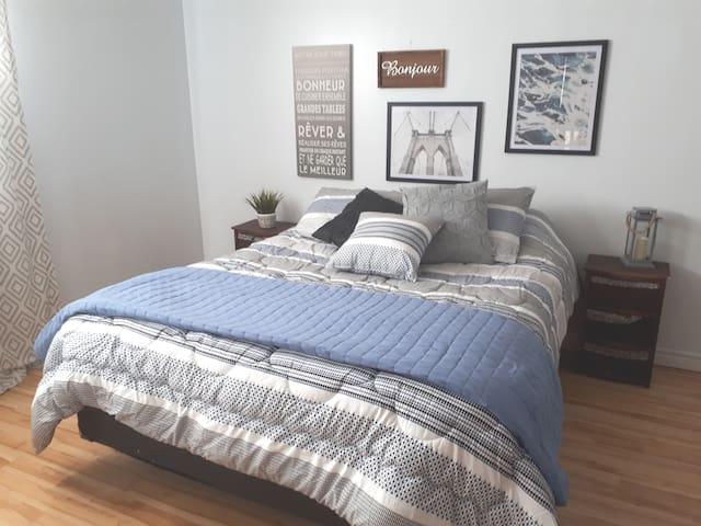 Appartement bleu azur