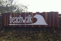 Beach Walk entrance is 20 seconds to the right of this sign