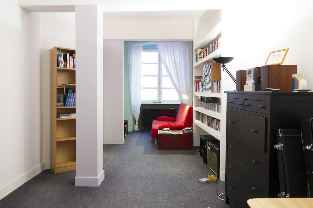 Le logement est très calme. 50 m² à partager ! / Very calm & cosy flat