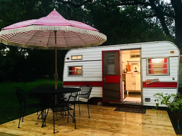 Meet Miss Ruby Lake Glamping at Saddleback Lake