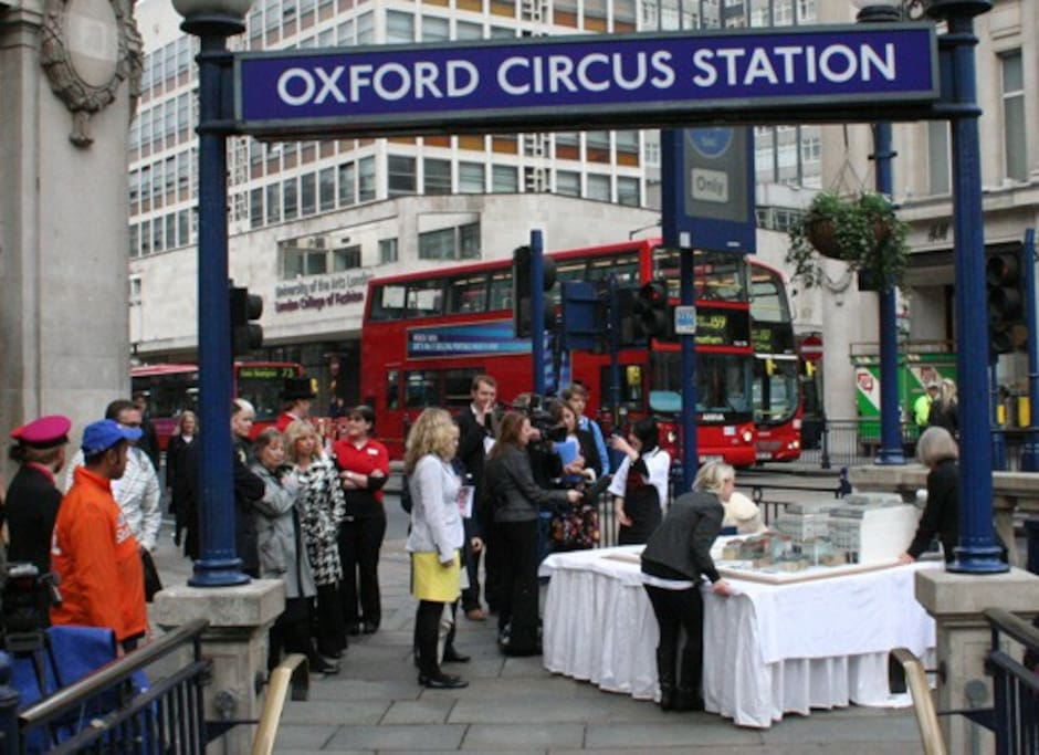 Oxford street Station just ten minutes from the flat