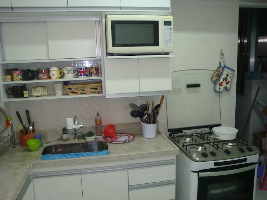 All kitchen facilities.