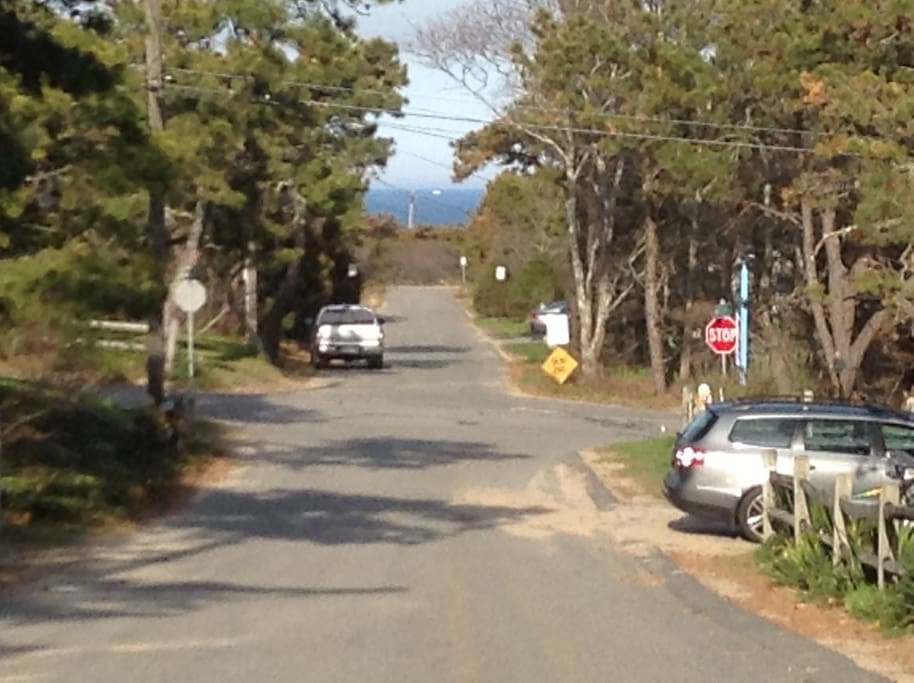 You can see the Atlantic Ocean at the end of the street!