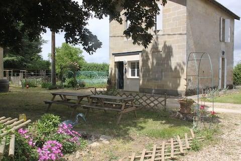 La Girtane:Gîte près de St Emilion bord Dordogne