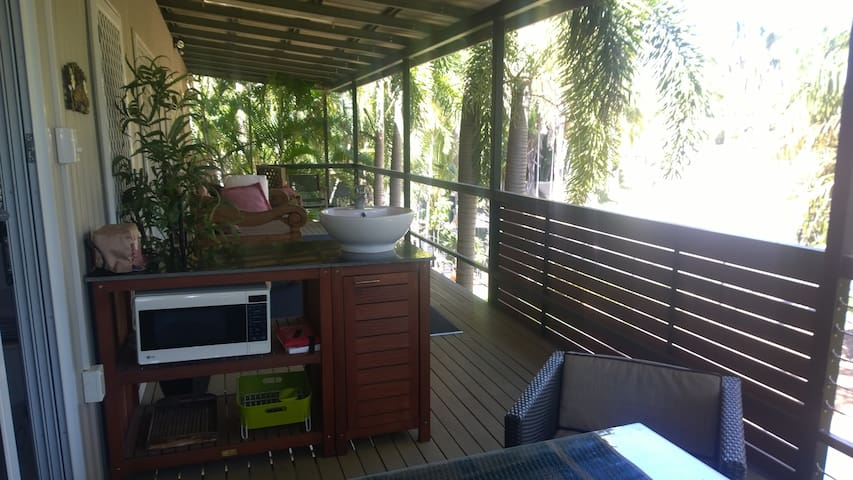 Large private verandah with Kitchenette
