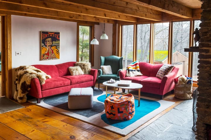 Retro Modern Paradise in the Catskills