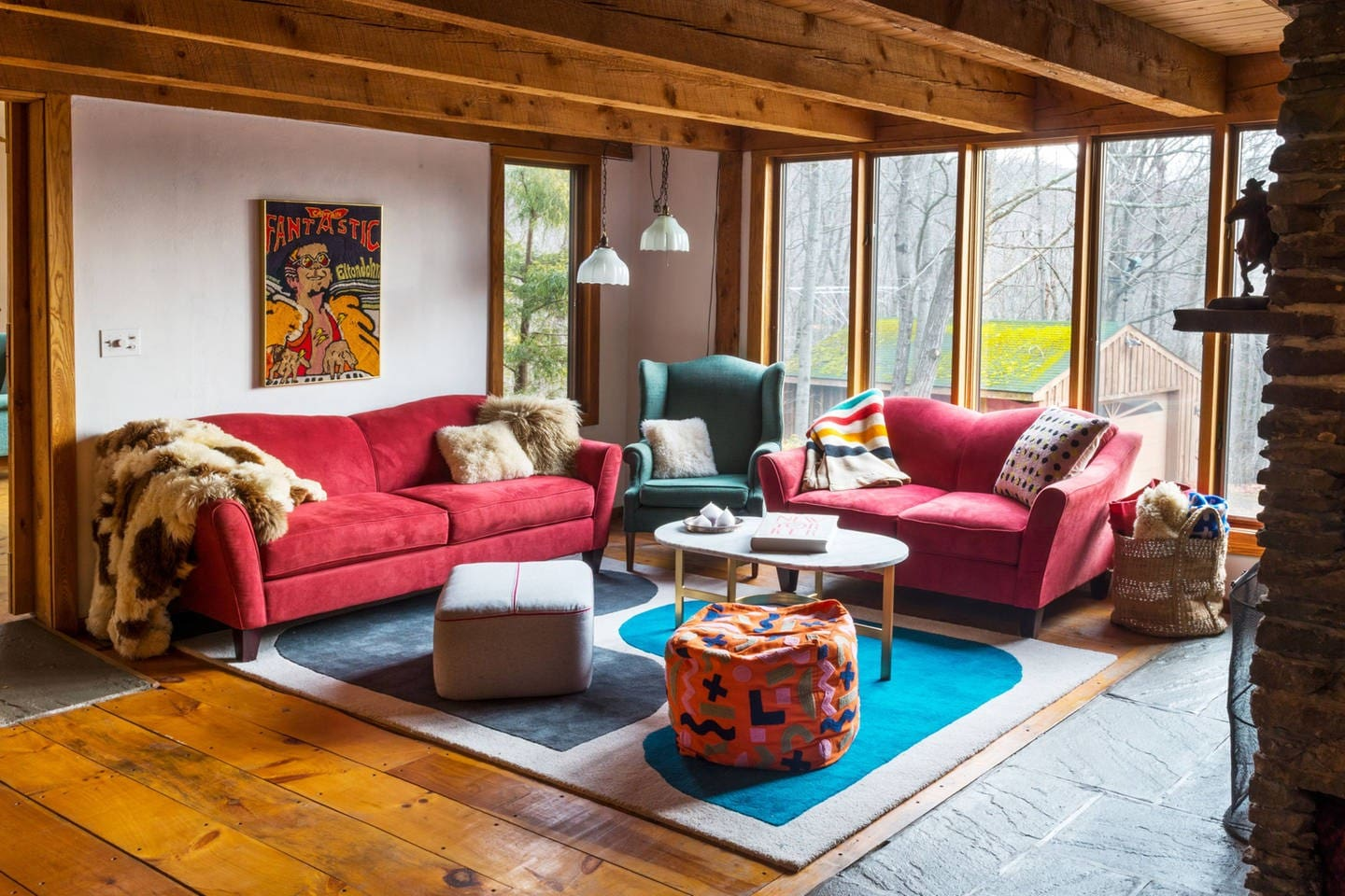 retro modern paradise in the catskills cabins for rent in big