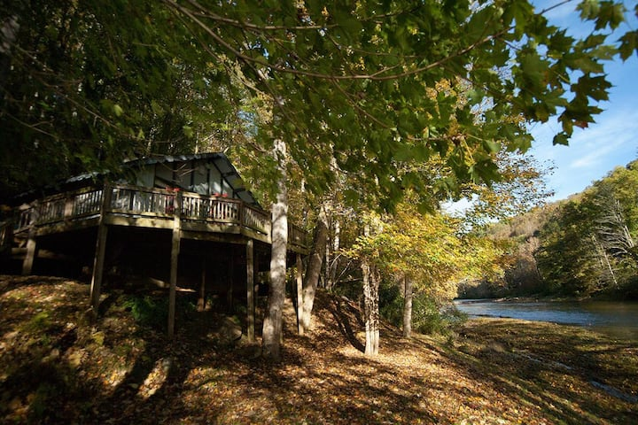 Rivers Edge in Todd - Enjoy the River from your front porch rocker