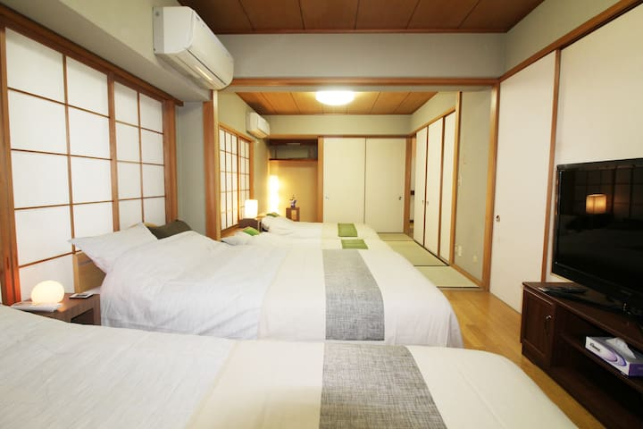 4 min to Shinjuku sta.! 5 bed rooms / Max 18 ppl ! - Shinjuku-ku - Daire