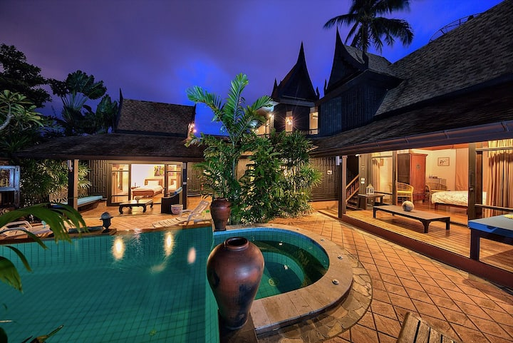 Thai Style 3br Heart of Bophut/Private pool