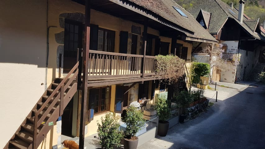 Delightful old village house,  Angon , lake Annecy