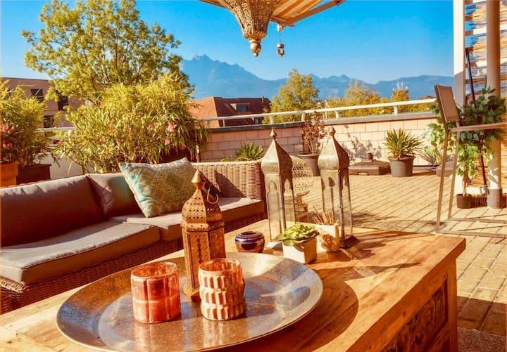 """Rooftop 2,5 Apt """"LaLuz""""! Huge 130m2 terrace! Wifi"""