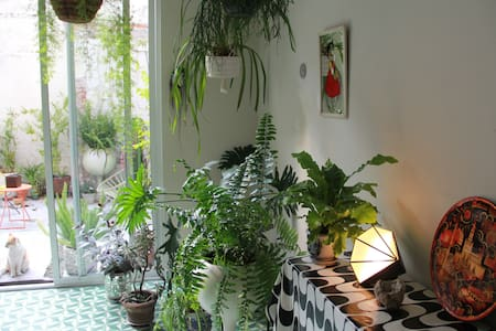 Green & cozy oasis at city rooftop - Mexico City