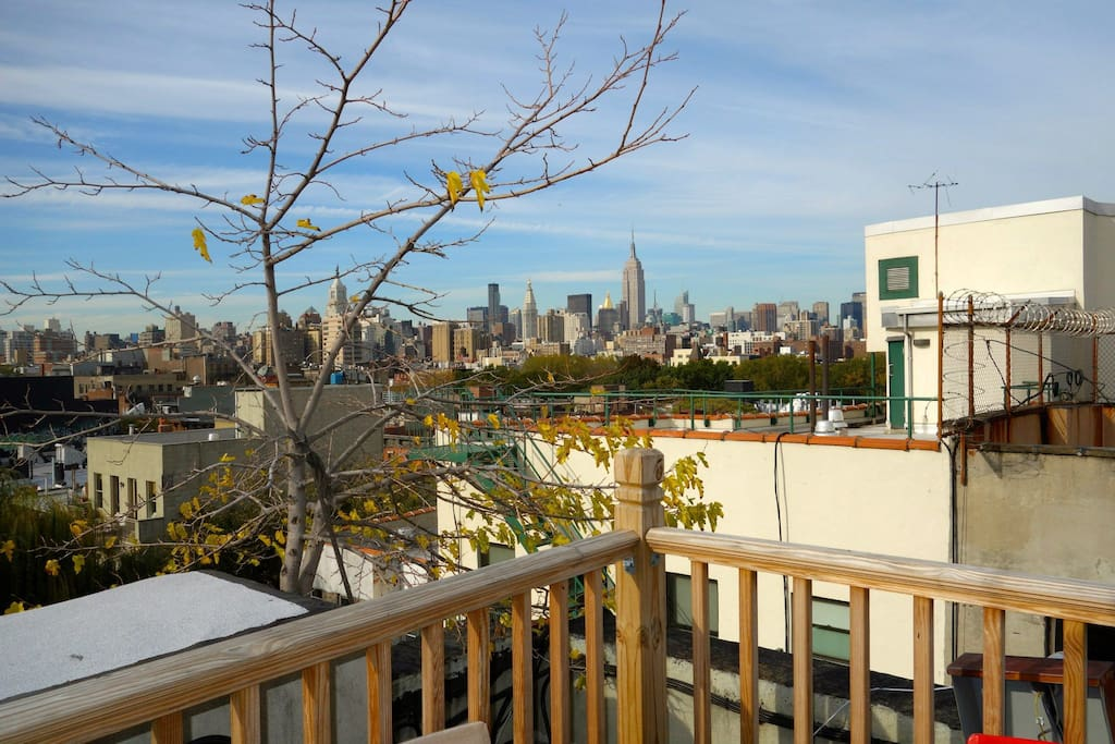 outdoor deck with 360 views of the city!