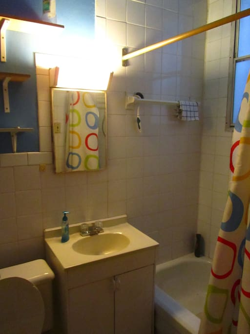 super clean and functional bathroom, hot water and pressure guaranty !!!