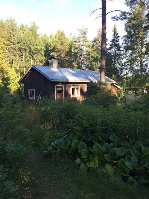 Sauna cabin in finnish countryside
