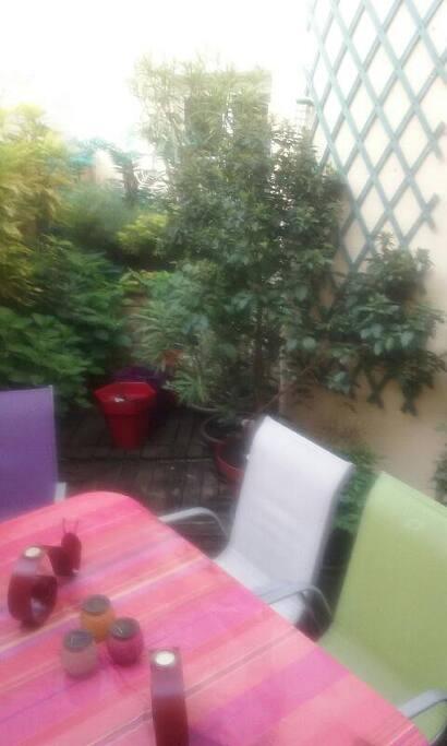 Terrasse sur salon