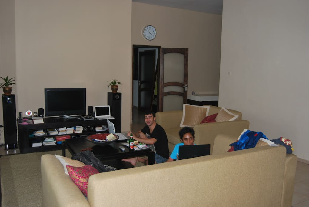 living room with internet ,cable tv....