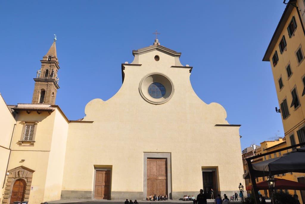 Just around the corner: the Santo Spirito Church