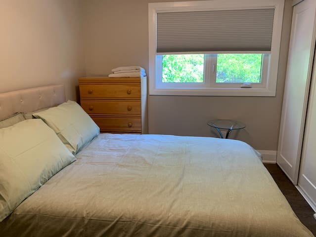 Double room and full bath! Clean, green, private.