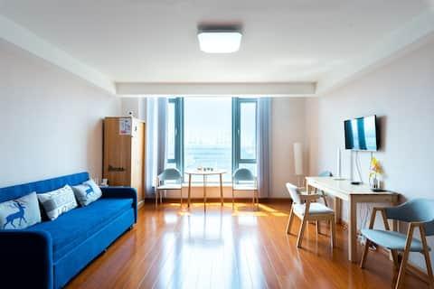 东疆湾沙滩公寓【Loft复式】家庭出游首选!