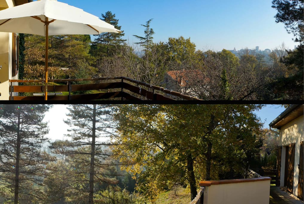 180 degree view from one of the 3 terraces