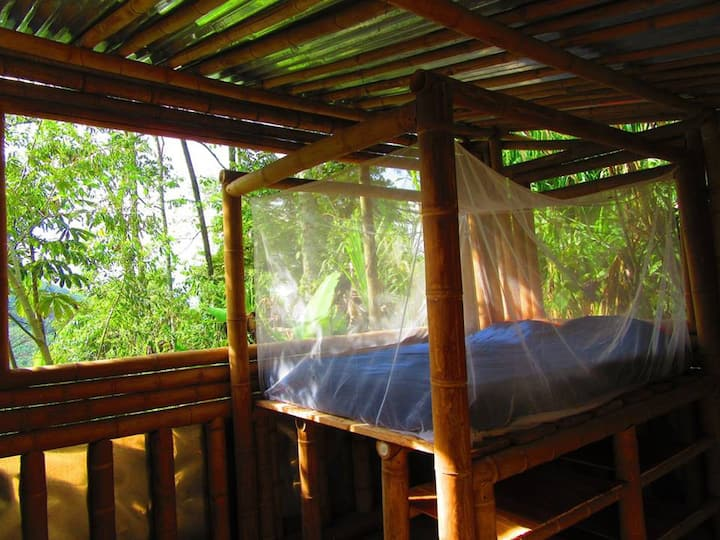 Bamboo Hut with Queen size bed for 2 persons