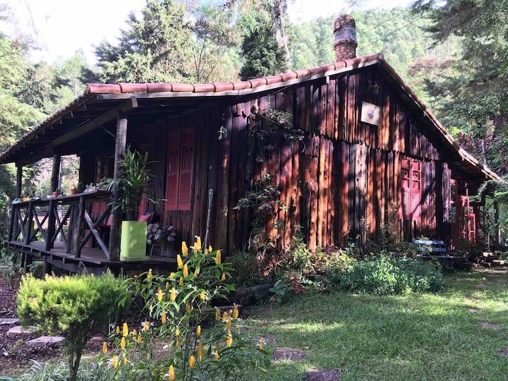 Cabana dos sonhos  em  Teresopolis lugar inteiro.