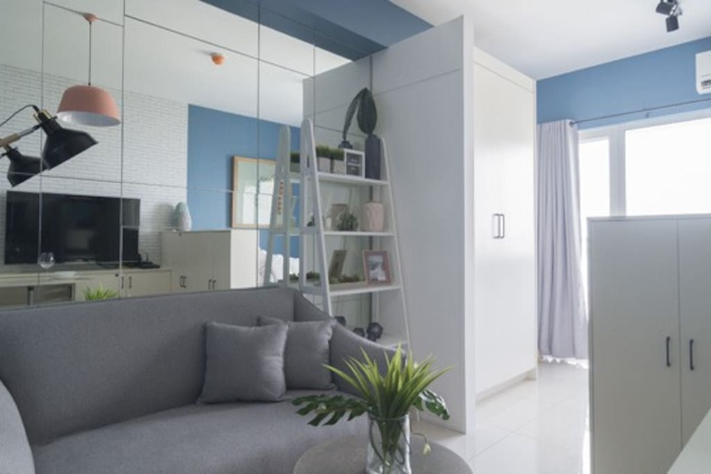Scandinavian-inspired paired with cool color scheme