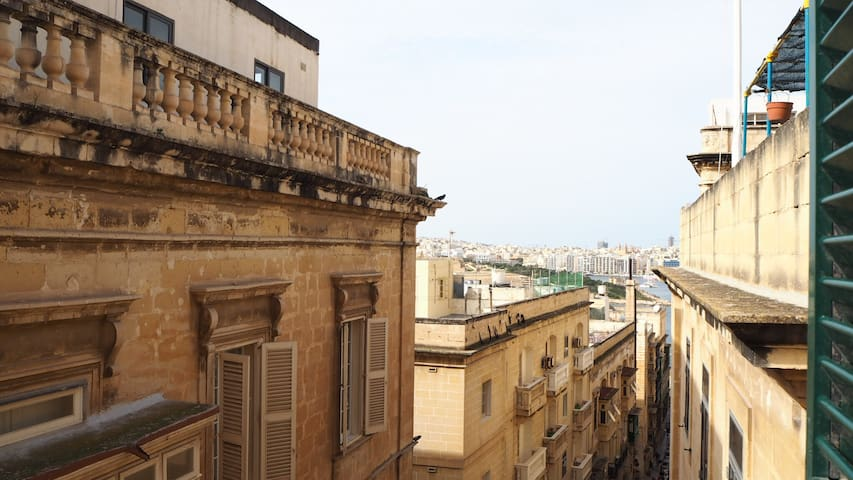 View of Sliema from main bedroom
