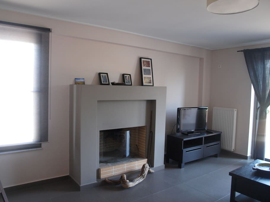 the fireplace in living-room