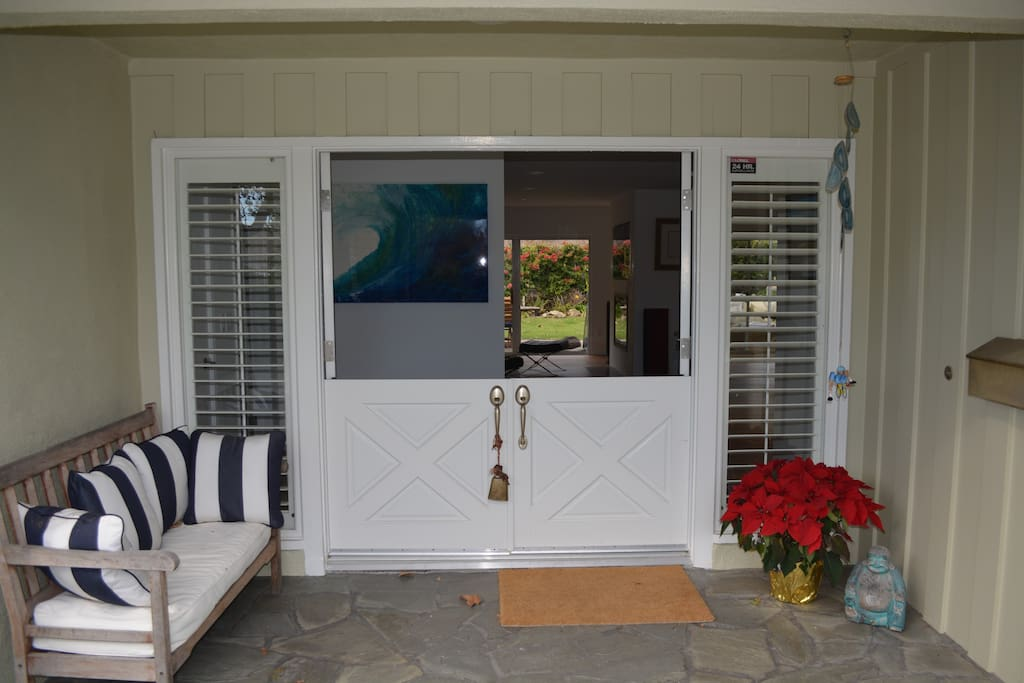 French barn doors to enjoy the ocean breeze