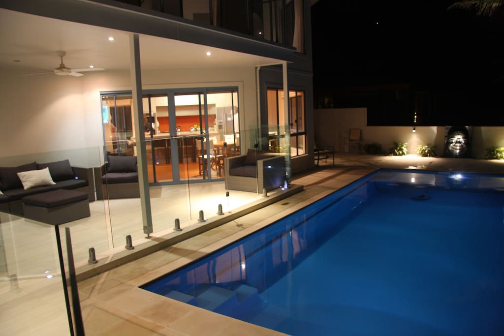 A great space to relax around the pool or to have a bbq