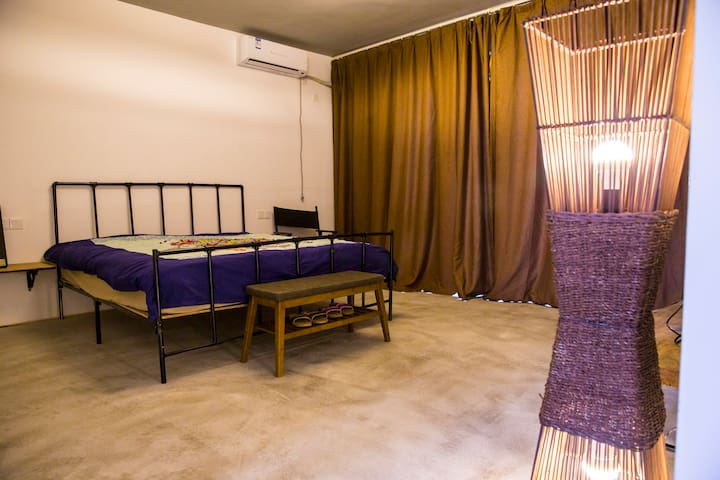 Meditation  villa suite room with  bathroom