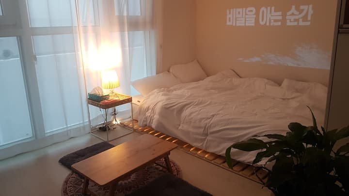 [M house #3] 힐링할수 있는 편안한 숙소^^ 빔프로젝터완비! 신세계백화점,동대구역