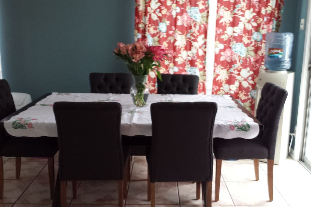 The dining area. Seats 6 guests.