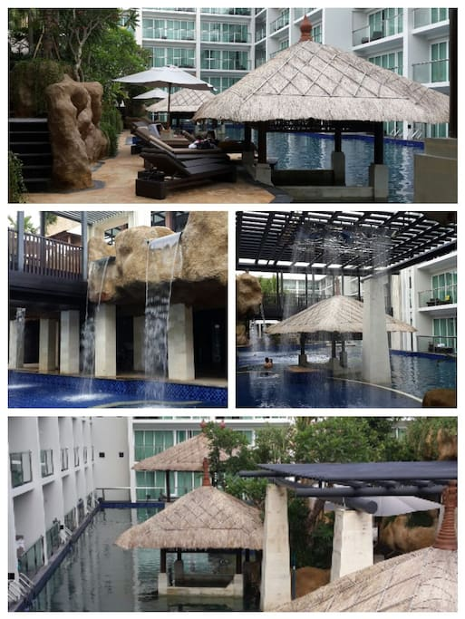 100 Rain Shower and Bar at pool side.