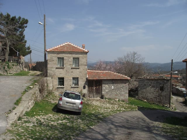 A rural village (stone) house