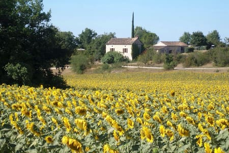 Stone farmhouse with pool SW France - Villesèque - Casa