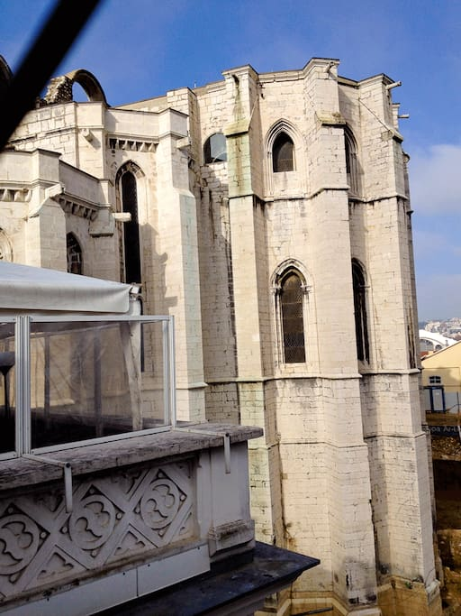 View of Ruins of Carmo from the kitchen window
