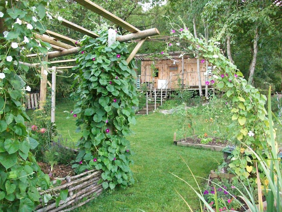 G te le petit co cabane champ tre cabins for rent in simandre sur suran rhone alpes france - Cabane au fond du jardin zimboum villeurbanne ...