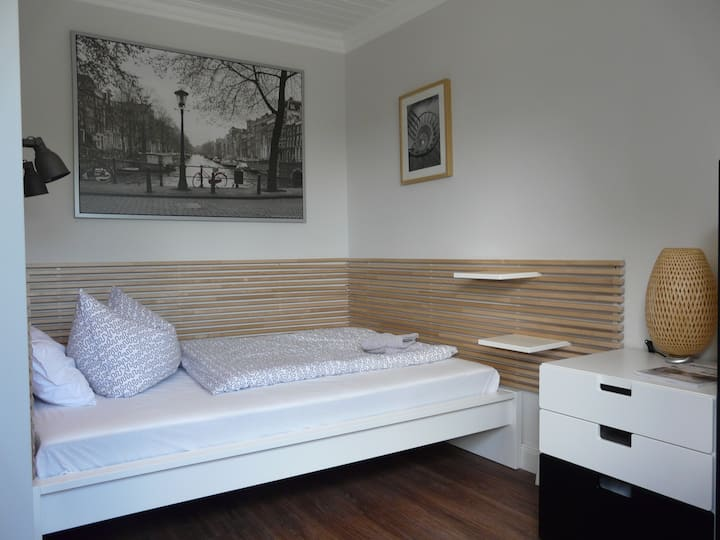 Einzelzimmer in der Pension Zur Kirchsee