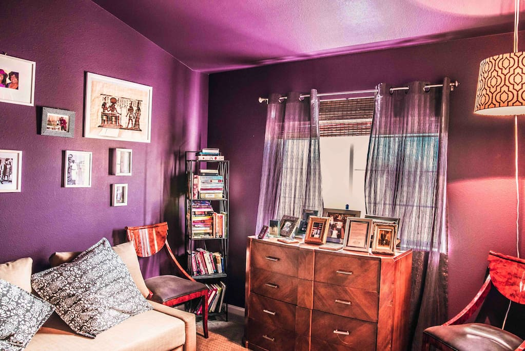 PRIVATE GUEST SUITE   Couch or Pull out to full bed Closet space Iron Small ironing board  Sheets  Down comforters Mattress pad