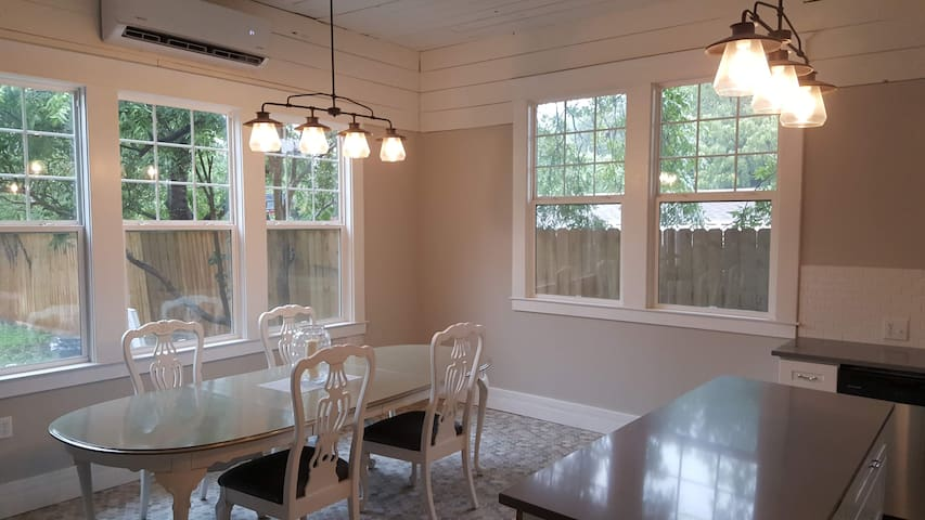 Kitchen/Dining Room is light and bright and overlooks the backyard.